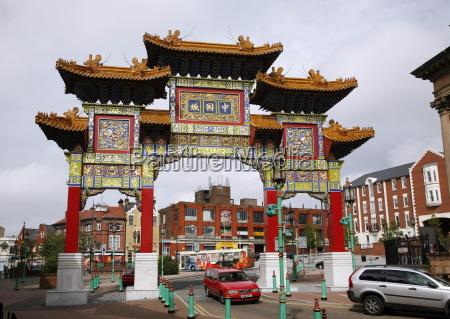 chinatown liverpool merseyside england united kingdom
