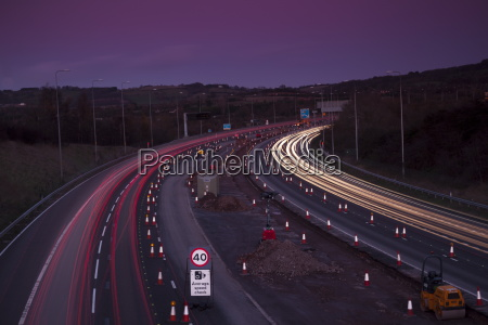 roadworks lane closures and speed limits