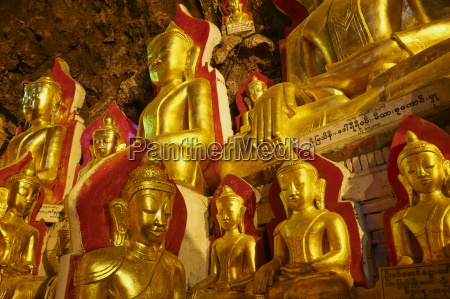 statues of the buddha shwe oo