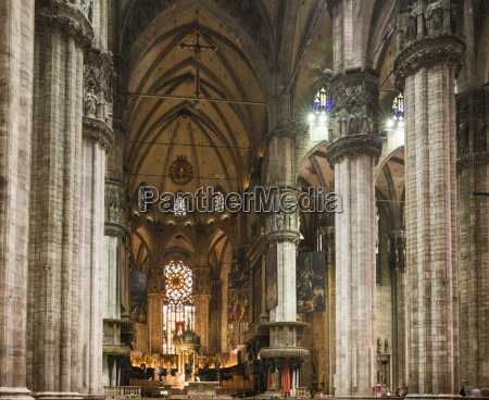 interior of milan cathedral piazza duomo