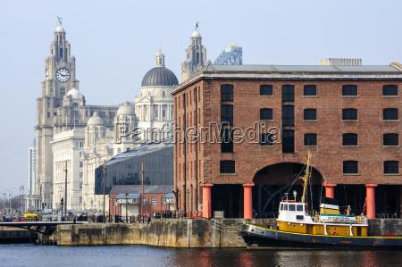 royal liver building and albert docks