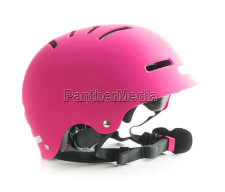 pink cykel hjelm