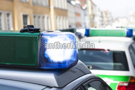 tyskland bayern landshut politi bil med