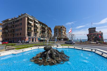italien ligurien rapallo hotel springvand og