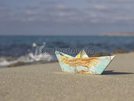spanien formentera lille papirbad foldet af
