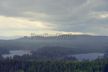 sverige orsa udsigt fra bjerget groenklitt