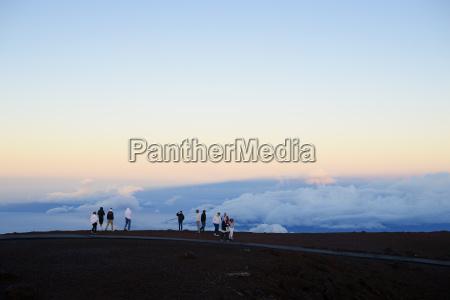 usa hawaii maui haleakala turister venter