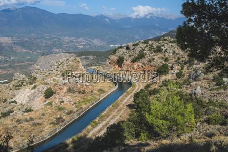 graekenland delphi udsigt til kunstvandings kanalen