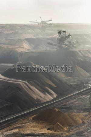 tyskland udsigt over brun kulmineindustrien i