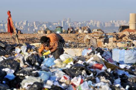 brasilien estrutural naer brasilia affaldsindsamlere pa
