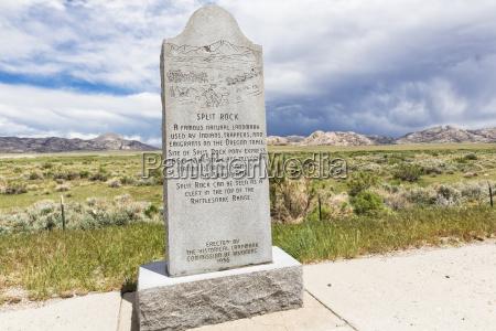 usa wyoming split rock historisk landmark