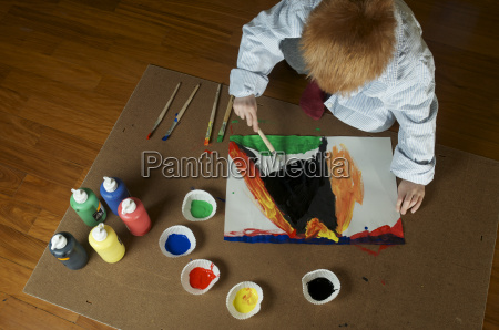 germany baden wuerttemberg constance boy painting