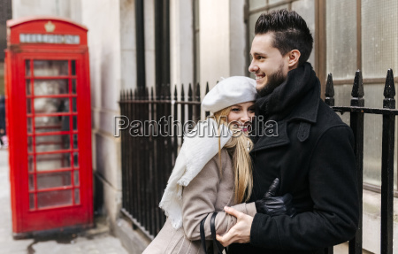 uk london young couple in love