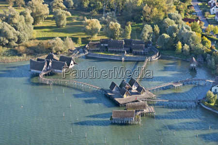 germany baden wurttemberg unteruhldingen aerial view