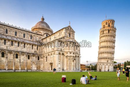 italien toscana pisa udsigt til katedralen