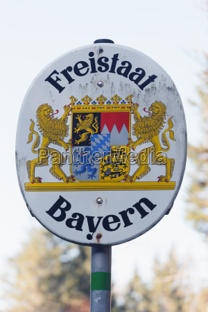 deutschland bayern riss tal emblem des