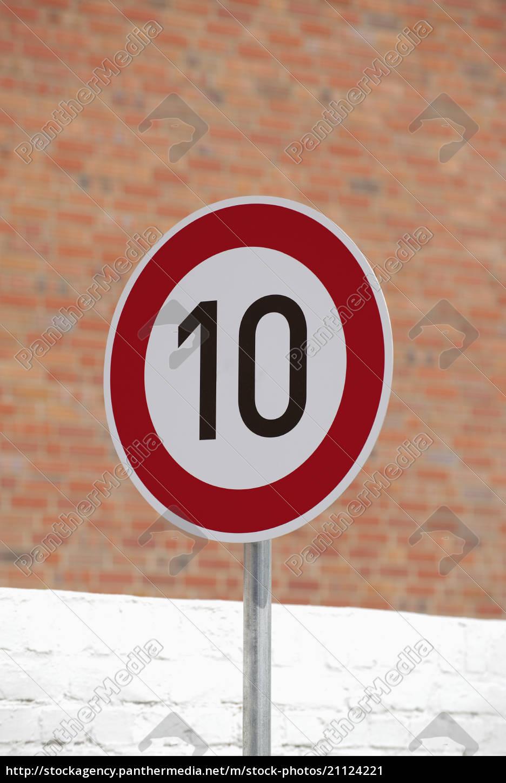 tyskland, hastighedsgrænsetegn - 21124221