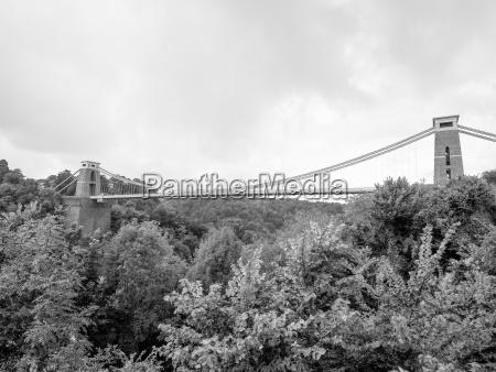 clifton suspension bridge in bristol in