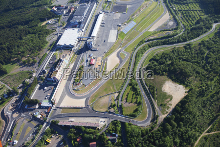 tyskland rheinland pfalz nuerburgring luftfoto af