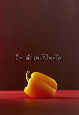 gul peberfrugt naerbillede