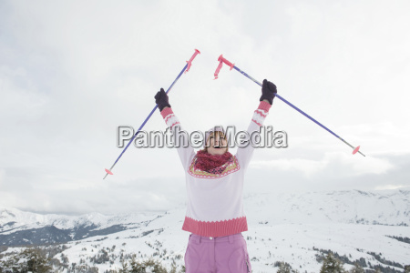 italy south tyrol seiseralm woman holding