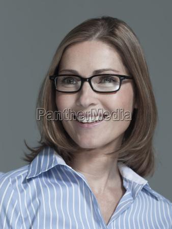 portrait of a woman wearing eye