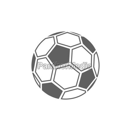 sport bold illustration ikon fodbold hvid