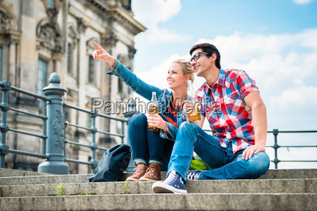 berlin turister nyder udsigten fra museumsoen