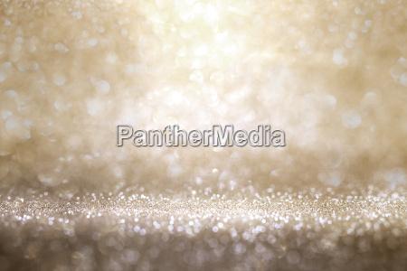 guld og solv glitter baggrund