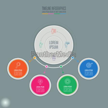 kreativt koncept for infografisk tidslinje infografisk