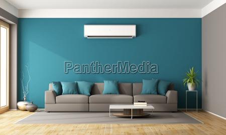 moderne stue med klimaanlaeg
