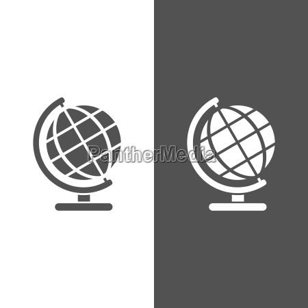 globe ikon for uddannelse