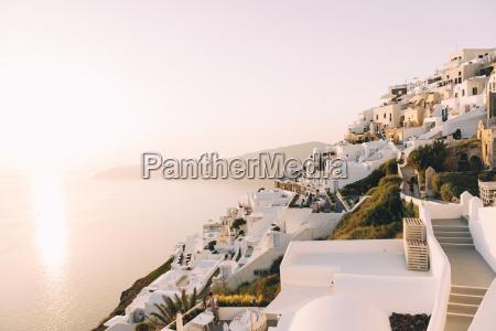 greece santorini fira white village view