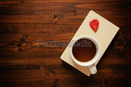 cup of tea on a book