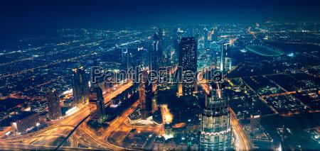 panoramaudsigt over dubai by