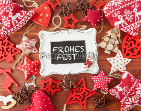 rustic background with christmas decoration