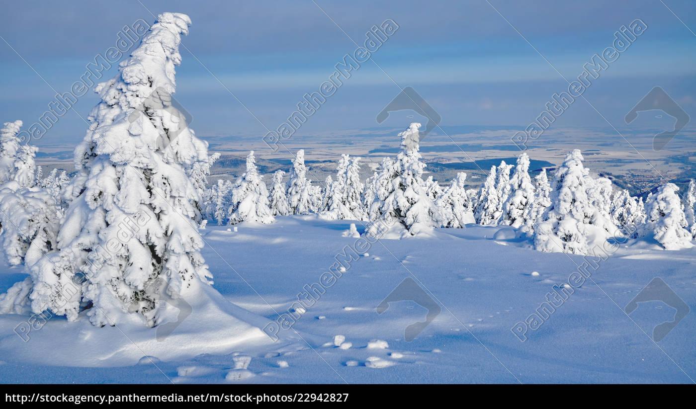 vinter, på, brocken, sachsen-anhalt, tyskland - 22942827