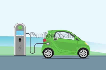 opladning af elektriske biler pa opladeren