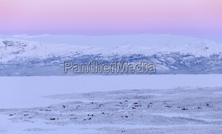view of abisko houses on the