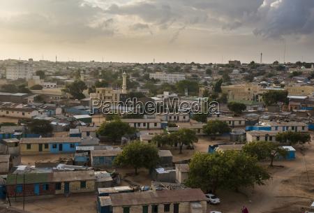 view over hargeisa somaliland somalia africa