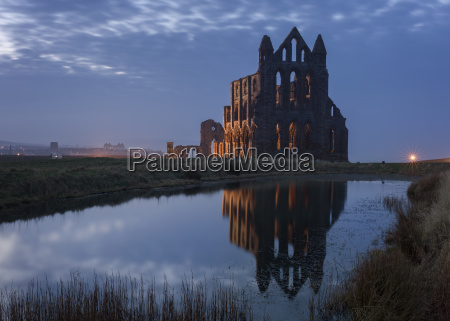 whitby abbey a prominent landmark perched