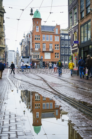 reflections on a rainy day amsterdam