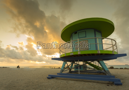 lifeguard station on south beach at