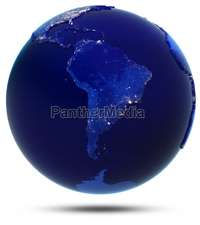 suedamerika stadt beleuchtet wiedergabe 3d