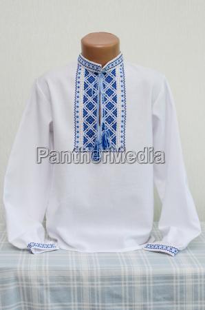 ukrainian national clothes embroidered shirt
