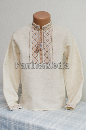 slavic tradicional embroidered shirt