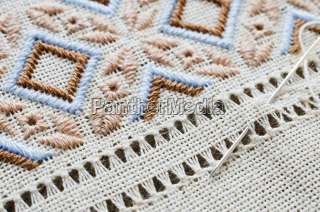 embroidery texture flat stitch and hemstitch