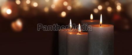 laegter advent gylden dekoration lys stearinlys