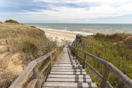 trappe til stranden
