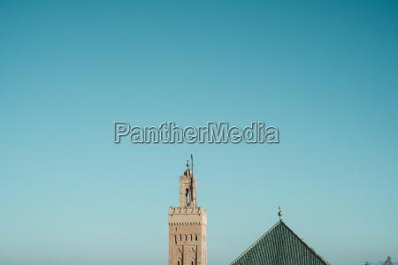 koutoubia mosque minaret under clear sky